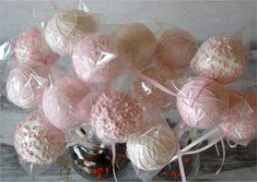 Cake Pops - Soft Pink Bridal Shower, Baby Shower, Birthday Party Favors made with quality ingredients (24)