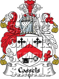 Cassels Family Crest apparel, Cassels Coat of Arms gifts