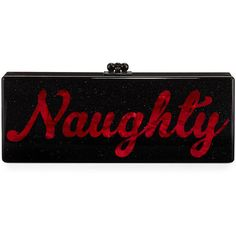 Edie Parker Naughty & Nice Flavia Clutch Bag (€1.615) ❤ liked on Polyvore featuring bags, handbags, clutches, handbags clutches, obsidian sand, glitter purse, hand bags, edie parker clutches, lucite purse and kiss lock handbags
