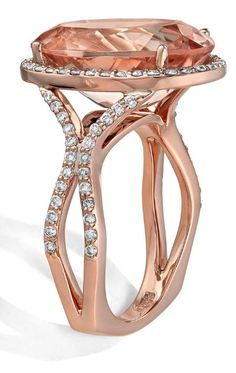 Makur's Morganite Jewelry: The First to Celebrate the Peachy-Pink Stone Rose Gold Jewelry, 18k Rose Gold, Stone Jewelry, Jewelry Rings, Jewelry Ideas, Jewellery, Morganite Jewelry, Morganite Ring, Morganite Engagement