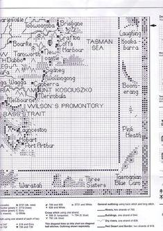 ru / Фото - Map of Australia - natalytretyak Cross Stitch Cow, Cross Stitch Animals, Cross Stitch Charts, Cross Stitch Patterns, Australia Map, Dmc Floss, Stitch 2, Needle And Thread, Cross Stitching
