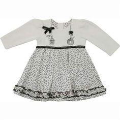Cegonha Feliz Roupas Bebê Menina : Vestido de Inverno para Bebê Menina