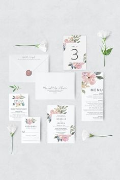 Blush Wedding Invitation, Printable Wedding Invitation, Vintage Floral Wedding Invitation, Wedding Invitation Template, Watercolor Wedding – The Best Ideas Summer Wedding Invitations, Watercolor Wedding Invitations, Printable Wedding Invitations, Wedding Invitation Design, Invitation Suite, Invitations Online, Floral Invitation, Wedding Stationery, Inexpensive Wedding Venues