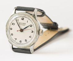 Unisex wristwatch Moskva classic watch rare grey by SovietEra, $72.00