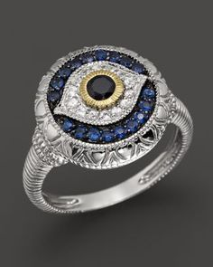 Judith Ripka Sterling Silver Evil Eye Ring at London Jewelers! Jewelry Rings, Silver Jewelry, Jewelry Accessories, Fine Jewelry, Jewlery, Swarovski Jewelry, Bling Bling, Argent Sterling, Sterling Silver