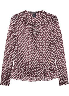Maison Scotch Bluse print 102195 Sheer Peplum Blouse combo D – Acorns