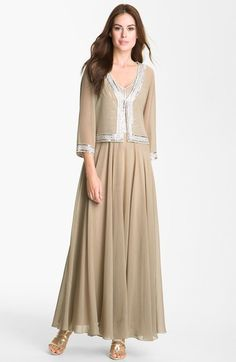 J Kara Embellished Chiffon Gown & Jacket available at #Nordstrom