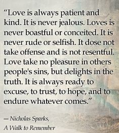 a walk to remember quote! Love this book!   Powerful quote!! #reading