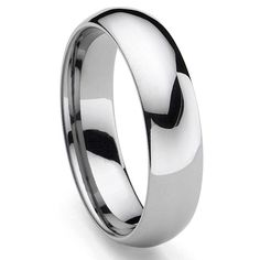 CLASSICAL Tungsten Carbide Men's Plain Dome Wedding Band