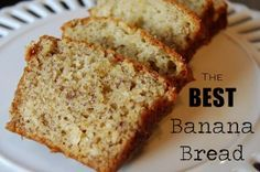 This is seriously the BEST banana bread ever. I promise you! Just try it and you will never use another banana bread recipe again.