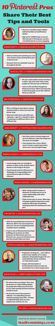 10 #Pinterest Professionals share Tips & Tricks.