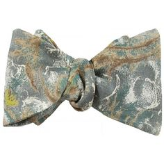 Abstract, water paint floral green, brown and gray vintage Japanese silk bow tie. Brown And Grey, Gray, Silk Bow Ties, Bow Tie Wedding, Vintage Japanese, Pocket Square, Paint, Abstract, Water