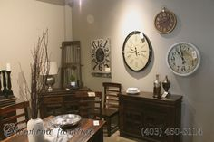 Look at those over size wall clocks!