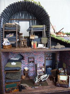 WWII English shelter in a suburban garden with a British Resistance Operational Base hidden underneath Place 2009 Spring Fling Contest - Gallery - The Greenleaf Miniature Community) Picture 2