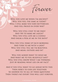 Beautiful Wedding Poems 6