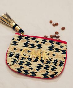 Monogrammed coin purses
