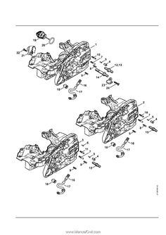Stihl MS 271 Chainsaw (MS271) Parts Diagram, Cylinder