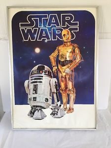 Star-Wars-Poster-1977-R2-D2-C-3PO-Movie-Fox-20x28-Vintage