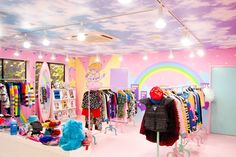 Documenting Canadian twins Ally&Sally and their journey during their time in Tokyo as members of rock idol group, Seishun Gakuen (青SHUN学園). Kids Store, Toy Store, Interior Design Inspiration, Room Inspiration, Craft Stall Display, Kawaii Store, Nerd Room, Clothing Store Design, Sailor Moon