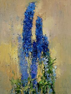 Delphiniums in evening light - Alexi Zaitsev