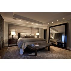 Lincoln Park West Master Bed A - contemporary - bedroom - chicago - by... ❤ liked on Polyvore