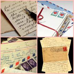 Convite de casamento envelopes antigos
