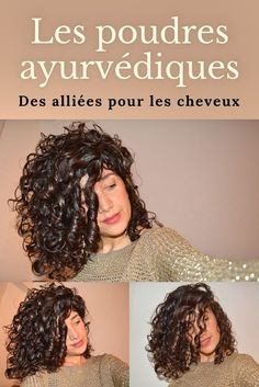 """Les poudres ayurvédiques : des alliées pour les cheveux """" Hair Care, You can throw out your unnatural conditioners, hair serum, and styling products, and replace them with this coconut oil which is an all-natural proble. Blonde Curly Hair, Curly Hair With Bangs, Short Curly Hair, Curly Hair Styles, Natural Hair Styles, Ayurveda, Hair Cute, Brown Curls, Maquillaje Halloween"""