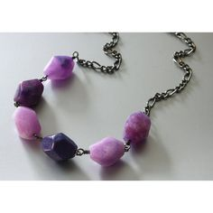 SALE 50% OFF, Purple Jade Beads Necklace (18 CAD) ❤ liked on Polyvore featuring jewelry, necklaces, beaded jewelry, purple jewelry, jade bead necklace, purple jewellery and purple bead necklace