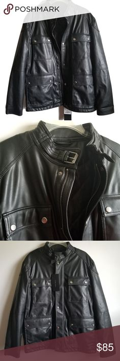 7013de44 🇨🇺ZARA MAN FAUX LEATHER JACKET New Zara Man Faux Leather Jacket. Stylish.  Great quality and good for a variety of occasions. Size L. Zara Jackets &  Coats