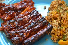 I saw this recipe for vegan ribs and knew I was going to have to try it. We've had it twice since, because I purchased a massive package of yuba sheets from my local International store. Veggie Recipes, Asian Recipes, Vegetarian Recipes, Cooking Recipes, Vegetarian Chicken, Dinner Recipes, Vegan Meat Recipe, Delicious Vegan Recipes, Tofu Dishes