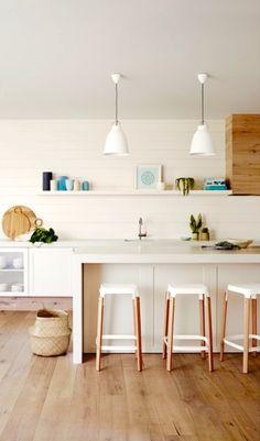 white + wood + long open shelf