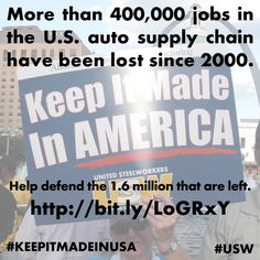 #MANUFACTURING:   The domestic auto parts manufacturing industry is made up of many small and medium sized facilities.  We need your help finding them all.  If you know of a manufacturing facility that makes anything for the automobile industry visit http://www.usw.org/resources/forms?id=0015.