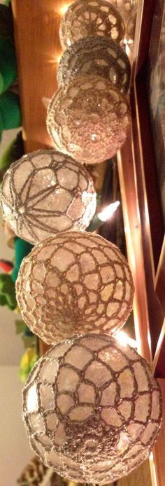 Crocheted Christmas Ornaments.