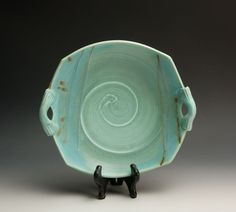 Artisan crafted porcelain plate438 by BlueParrotPots on Etsy, $41.00