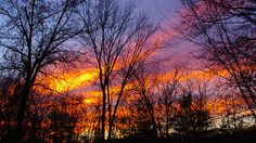 """Pretty in Red - Weather Blog A cloud band arrives in perfect timing for the sunset in Franklin Park, N.J., by """"bird11"""" on Nov. 14, 2013."""