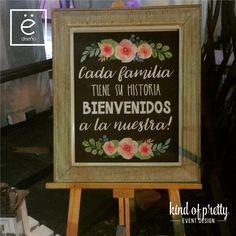 Cartel de bienvenida para boda #boda #cartel #bienvenida #casamiento #sign #wedding #welcome