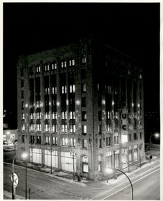 PUC Building at Christmas in Thunder Bay, Ontario 1964 Ontario, Port Arthur, City Government, Fort William, Canadian History, 10 Picture, Thunder, Vintage Christmas, Past