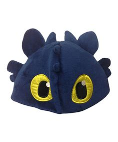 Another great find on #zulily! Black Night Fury Plush Hat by DreamWorks #zulilyfinds