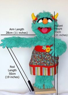 Professional Puppet Girl Monster Daisy Mini Monsters