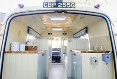 The Lindner family have converted an old 1969 ambulance into a custom campervan, with it also appearing on George Clarke's Amazing Spaces on Channel Picture: Matthew Usher. George Clarke Amazing Spaces, Van Design, Mini Bus, Vintage Trailers, Vintage Campers, Mode Of Transport, Moving House, Rv Travel, Rv Life