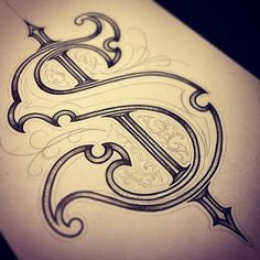 No photo description available. Tattoo Lettering Styles, Chicano Lettering, Graffiti Lettering Fonts, Creative Lettering, Lettering Design, Script Lettering, Tattoo Fonts Alphabet, Hand Lettering Alphabet, Calligraphy Letters