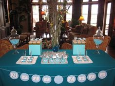 peacock theme baby shower party ideas