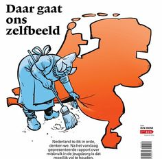 This picture from a Dutch newspaper portrays a Dutch saying which translates as sweeping something under the rug, meaning not to discuss a certain matter out in the open. Family Roots, The Old Days, Dutch, Meant To Be, Old Things, Wooden Clogs, Sayings, Newspaper, Tulips