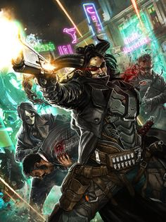 Cover illustration painted for Catalyst Game Lab's Shadowrun: Hard Targets. My first print cover illustration! Woo! I worked very hard on this one, but in the end, I still see only flaws. :_: Sti...