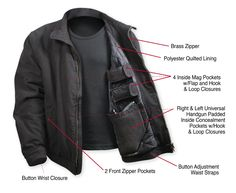 Rothco Security Concealed Carry Hoodie Black