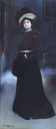 Ramon Casas - Retrato de Isabel Llorach, 1901