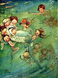 """Illustration de Mabel Lucie Attwell, """"Water Babies"""""""