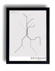 Brisbane's Train line Rhythm Poster