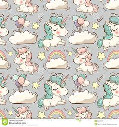 vector-pattern-unicorn-clouds-rainbow-cute-unicorns-stars-magic-background-65598501.jpg (1300×1390)