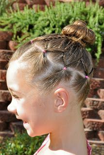 Marvelous 1000 Images About Easy Gymnastics Hair For Competition On Short Hairstyles Gunalazisus